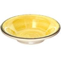 Carlisle 5401813 Mingle 4.5 oz. Amber Melamine Fruit Bowl - 48/Case