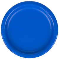 Creative Converting 793147B 7 inch Cobalt Paper Lunch Plate - 24 / Pack