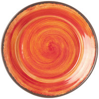 Carlisle 5400652 Mingle 12 1/2 inch Fireball Round Melamine Charger Plate - 12/Case