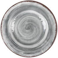 Carlisle 5400218 Mingle 9 inch Smoke Round Melamine Salad Plate - 12/Case