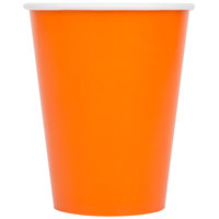 Creative Converting 56191B 9 oz. Sunkissed Orange Poly Paper Hot / Cold Cup - 24/Pack