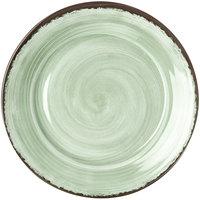 Carlisle 5400646 Mingle 12 1/2 inch Jade Round Melamine Charger Plate   - 12/Case