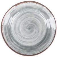 Carlisle 5400618 Mingle 12 1/2 inch Smoke Round Melamine Charger Plate - 12 / Case