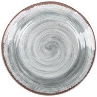 Carlisle 5400618 Mingle 12 1/2 inch Smoke Round Melamine Charger Plate - 12/Case