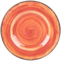Carlisle 5400252 Mingle 9 inch Fireball Round Melamine Salad Plate - 12/Case