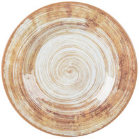 Carlisle 5400217 Mingle 9 inch Copper Round Melamine Salad Plate   - 12/Case