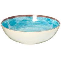 Carlisle 5401315 Mingle 4.8 Qt. Aqua Melamine Large Serving Bowl - 6/Case
