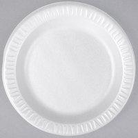 Dart 7PWQR Quiet Classic 7 inch White Laminated Round Foam Plate - 1000/Case
