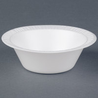 Dart Solo 35BWWQ Quiet Classic 3.5-4 oz. White Laminated Round Foam Bowl - 125/Pack