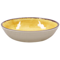 Carlisle 5401913 Mingle 35.5 oz. Amber Melamine Cereal Bowl - 12 / Case