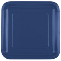 Creative Converting 463278 9 inch Navy Blue Square Paper Plate - 18/Pack
