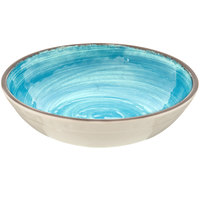 Carlisle 5401915 Mingle 1.11 Qt. Aqua Melamine Cereal Bowl - 12/Case