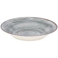 Carlisle 5400318 Mingle 28.5 oz. Smoke Melamine Rimmed Soup Bowl - 6/Case