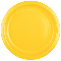 Creative Converting 501021B 10 inch School Bus Yellow Paper Banquet Plate - 24 / Pack