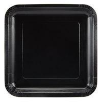 Creative Converting 453260 7 inch Black Velvet Square Paper Plate - 18/Pack