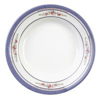 Rose 12 oz. Round Melamine Soup Plate - 12/Pack