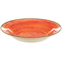 Carlisle 5400352 Mingle 28.5 oz. Fireball Melamine Rimmed Soup Bowl - 6 / Case