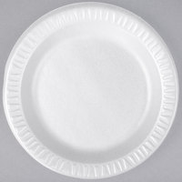 Dart 7PWQR Quiet Classic 7 inch White Laminated Round Foam Plate - 125/Pack