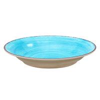 Carlisle 5400315 Mingle 28.5 oz. Aqua Melamine Rimmed Soup Bowl - 6 / Case