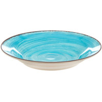 Carlisle 5400315 Mingle 28.5 oz. Aqua Melamine Rimmed Soup Bowl - 6/Case
