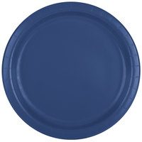 Creative Converting 471137B 9 inch Navy Blue Paper Plate - 24/Pack