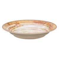 Carlisle 5400317 Mingle 28.5 oz. Copper Melamine Rimmed Soup Bowl - 6 / Case