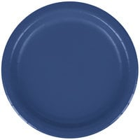 Creative Converting 791137B 7 inch Navy Blue Paper Plate - 24/Pack