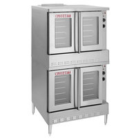 Blodgett ZEPHAIRE-200-G Natural Gas Double Deck Full Size Bakery Depth Convection Oven with Draft Diverter - 120,000 BTU