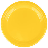 Creative Converting 28102121B 9 inch School Bus Yellow Plastic Plate   - 50/Pack