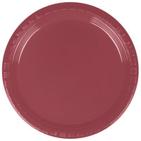 Creative Converting 28-3122-11 7 inch Burgundy Plastic Plate - 20/Pack