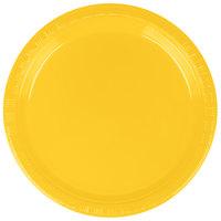 Creative Converting 28102111B 7 inch School Bus Yellow Plastic Plate   - 50/Pack