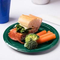 Creative Converting 28312411 7 inch Hunter Green Plastic Plate - 20/Pack