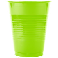 Creative Converting 28312381 16 oz. Fresh Lime Green Plastic Cup - 20/Pack