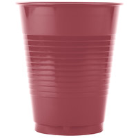 Creative Converting 28312281 16 oz. Burgundy Plastic Cup - 20 / Pack
