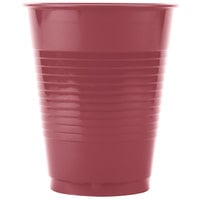 Creative Converting 28312281 16 oz. Burgundy Plastic Cup - 20/Pack