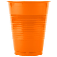 Creative Converting 28191081 16 oz. Sunkissed Orange Plastic Cup - 20/Pack