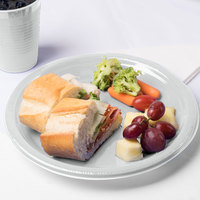 Creative Converting 28106031B 10 inch Shimmering Silver Plastic Plate - 50/Pack