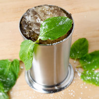 American Metalcraft JC8 8 oz. Brushed Stainless Steel Mint Julep Cup
