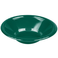 Creative Converting 28312451 12 oz. Hunter Green Plastic Bowl - 20/Pack