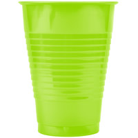 Creative Converting 28312371 12 oz. Fresh Lime Green Plastic Cup - 20/Pack