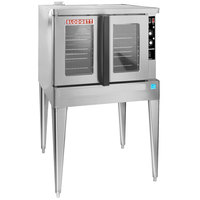 Blodgett ZEPHAIRE-200-G-ES Liquid Propane Single Deck Full Size Bakery Depth Convection Oven with Draft Diverter - 50,000 BTU