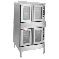 Blodgett BDO-100-G-ES Liquid Propane Double Deck Full Size Gas Convection Oven - 90,000 BTU
