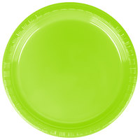Creative Converting 28312311 7 inch Fresh Lime Green Plastic Plate - 20/Pack