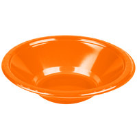 Creative Converting 28191051 12 oz. Sunkissed Orange Plastic Bowl - 20/Pack