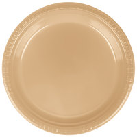 Creative Converting 28103021B 9 inch Glittering Gold Plastic Plate - 50/Pack