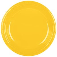 Creative Converting 28102131B 10 inch School Bus Yellow Plastic Plate   - 50/Pack