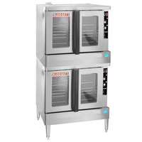 Blodgett ZEPHAIRE-100-G Double Deck Full Size Standard Depth Gas Convection Oven with Draft Diverter - 100,000 BTU