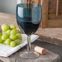 Carlisle EP6015 Epicure Cased 15.2 oz. Aqua Tritan Plastic Wine Goblet - 12/Case