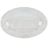Carlisle 6402106 Grove 14 inch x 20 inch Buff Oval Melamine Tray - 4/Case