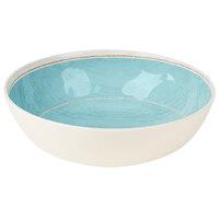 Carlisle 6401715 Grove 5.2 Qt. Aqua Large Melamine Serving Bowl - 6/Case
